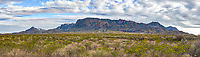 A Panorama view of the Chiso mountains in Big Bend National Park.