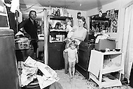 Quarrier, West Virginia, U.S.A, December, 1980. America severly marked by the recession. The Chapman family. Mr Chapman is on welfare. He used to be employed in a chemical plant.