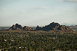 Papago Park as seen from Camelback Mountain in Paradise Valley, Arizona.