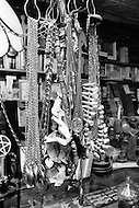 Brooklyn, New York City, NY. April 1974. <br /> Witchcraft is the oldest religion. Mystical objects sold in the &quot;Warlock&quot; shop are used during sabbath ceremony.