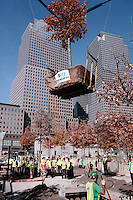 The 50th Tree Plantiing for 9/11 Memorial held at Ground Zero at World Trade Center