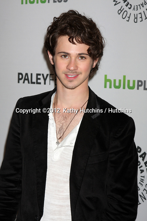 "LOS ANGELES - MAR 11:  Connor Paolo arrives at the ""Revenge"" Event at PaleyFest 2012 at the Saban Theater on March 11, 2012 in Los Angeles, CA"