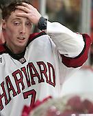Danny Fick (Harvard - 7) - The Harvard University Crimson honored their seniors following their final home game of the regular season on Saturday, February 22, 2014 at the Bright-Landry Hockey Center in Cambridge, Massachusetts.