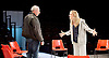 People, Places and Things <br /> by Duncan Macmillan <br /> directed by Jeremy Herrin <br /> at the Dorfman Theatre, NT, Southbank, London, Great Britain <br /> press photocall <br /> 28th August 2015 <br /> <br /> Denise Gough as Emma <br /> Kevin McMonagle as Paul <br /> <br /> <br /> Photograph by Elliott Franks <br /> Image licensed to Elliott Franks Photography Services