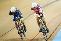 Picture by Alex Whitehead/SWpix.com - 03/03/2017 - Cycling - UCI Para-cycling Track World Championships - Velo Sports Center, Los Angeles, USA - Men's C3 3km Individual Pursuit.<br /> <br /> BERENYI Joseph USA<br /> OBYDENNOV Alexsey RUSSIA