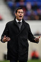 New York Red Bulls head coach Mike Petke. The New York Red Bulls and Chivas USA played to a 1-1 tie during a Major League Soccer (MLS) match at Red Bull Arena in Harrison, NJ, on March 30, 2014.