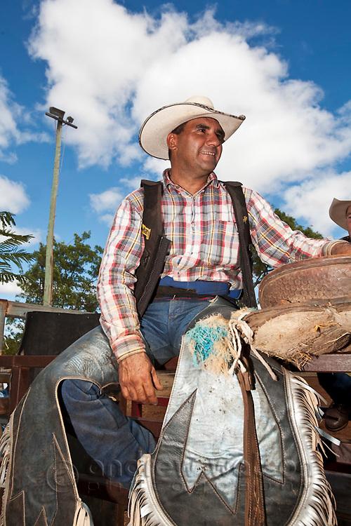 Portrait of a rodeo competitor.  Chillagoe Rodeo, Chillagoe, Queensland, Australia