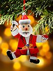 Traditional Christmas tree santa decoration