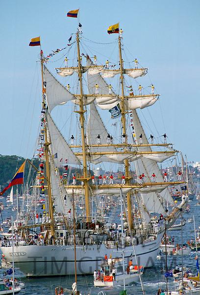 Bicentennial Day, Sydney Harbour, Australia.