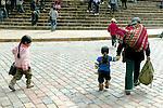 Mother & Child In Plaza De Armas
