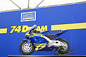 Minibike 74DREAM by DELTA ENTERPRISE made to convey motoGP rider Daijiro KATO's dream to promote the enjoyment of motorsports to  young generations..Circuit Akigase, Saitama City, Japan, on June 04th, 2004.
