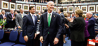 TALLAHASSEE, FLA. 3/4/14-Gov. Rick Scott enters the House Chamber prior to his State of the State address on the opening day of the legislative session, March 4, 2014 at the Capitol in Tallahassee.<br /> <br /> COLIN HACKLEY PHOTO
