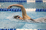 18 February 2016: Notre Dame's Ella Moynihan competes in the Women's 500 Freestyle preliminary Heat 6. The 2016 Atlantic Coast Conference Swimming and Diving Championships were held at the Greensboro Aquatic Center in Greensboro, North Carolina from February 17-27, 2016.