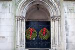 Christmas decorations on Beacon Hill, Boston, MA