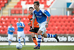 St Johnstone v Dundee United....07.08.12  SPL Under 20 League.Ally Gilchrist in action against Dundee Utd.Picture by Graeme Hart..Copyright Perthshire Picture Agency.Tel: 01738 623350  Mobile: 07990 594431