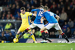 Rangers v St Johnstone&hellip;26.10.16..  Ibrox   SPFL<br />Danny Swanson goes by Andy Halliday<br />Picture by Graeme Hart.<br />Copyright Perthshire Picture Agency<br />Tel: 01738 623350  Mobile: 07990 594431