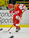 9 February 2008: Boston University Terriers' forward Jonnie Bloemers, a Sophomore from Brooklyn Center, MN, in action against the University of Vermont Catamounts at Gutterson Fieldhouse in Burlington, Vermont. The Terriers shut out the Catamounts 2-0 in the Hockey East matchup...Mandatory Photo Credit: Ed Wolfstein Photo