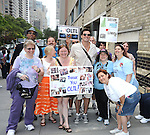 Austin Peck and fans attending The One Life to Live.43rd Anniversary Block Party outside the ABC Studio on July 15, 2011 in New York City.