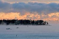 Sea smoke sunrise  #S7