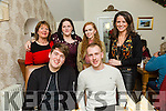 Easons Tralee enjoying a Christmas Party at Bella Bia on Saturday. Pictured Front l-r Kevin McLoughlin, Steven Kelly. Back l-r Caroline Hayes, Sheila Ellens, Rose Molyneux, Joanne Holness