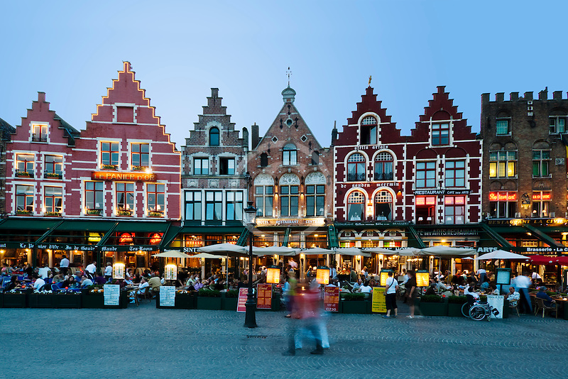 Belgium, Bruges, Market Square, Brugge Markt