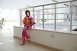 Miriam Mahsin, age 11, plays with her doll at the new Basrah Children's Hospital on Saturday, October 23, 2010 in Basrah, Iraq.