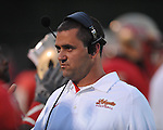 Lafayette High head coach Eric Robertson vs. Tupelo in Oxford, Miss. on Friday, August 17, 2012. Lafayette won 8-3. The game was Robertson's first as head coach.