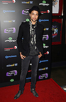 ANDRE GUILLIOT .At SWAGG VIP Kid Rock Concert at the Joint inside the Hard Rock Hotel and Casino, Las Vegas, Nevada, USA,.7th January 2010..full length black jacket scarf print skull skinny jeans blazer .CAP/ADM/MJT.© MJT/AdMedia/Capital Pictures.