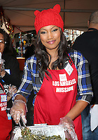 Los Angeles, CA - NOVEMBER 23: Garcelle Beauvais, At Los Angeles Mission Thanksgiving Meal For The Homeless At Los Angeles Mission, California on November 23, 2016. Credit: Faye Sadou/MediaPunch