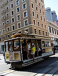 Cable Car in San Francisco full of toruists