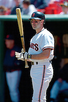 SAN FRANCISCO, CA - Will Clark of the San Francisco Giants waits in the on deck circle during a game at Candlestick Park in San Francisco, California in 1991. Photo by Brad Mangin