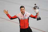 SCHAATSEN: ERFURT: Gunda Niemann Stirnemann Eishalle, 22-03-2015, ISU World Cup Final 2014/2015, winner 1500m Men World Cup, Denny Morrison (CAN), ©foto Martin de Jong