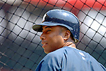 17 June 2006: Bernie Williams, outfielder for the New York Yankees, awaits his turn in the batting cage prior to a game against the Washington Nationals at RFK Stadium, in Washington, DC. The Nationals overcame a seven run deficit to win 11-9 in the second game of the interleague series...Mandatory Photo Credit: Ed Wolfstein Photo...