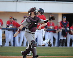 Ole Miss's David Phillips (25) scores vs. Louisiana-Monroe at Oxford-University Stadium in Oxford, Miss. on Friday, February 19, 2010.