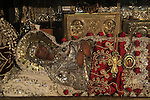 """Israel, Jerusalem, the icon of the Virgin Mary at the """"Metochion of Getsemane"""" opposite of the Church of the Holy Sepulchre"""