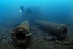HMS Audacious, the first Briitish Battleship to be sunk in World War 1. Super-Dreadnought class. Lies at 65 metres depth