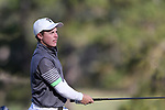 KANNAPOLIS, NC - APRIL 09: Charlotte's Conor Purcell (IRL) tees off on the 10th hole. The third round of the Irish Creek Intercollegiate Men's Golf Tournament was held on April 9, 2017, at the The Club at Irish Creek in Kannapolis, NC.