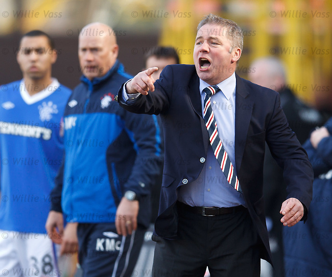 Ally McCoist trying in vain to inspire his side
