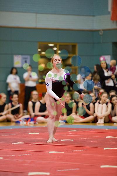 Amy Regan Scottish commonwealth gymnast performing at the 2012 gymfest Bishopbriggs Leisuredrome