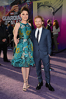 Seth Green &amp; Clare Grant at the world premiere for &quot;Guardians of the Galaxy Vol. 2&quot; at the Dolby Theatre, Hollywood. <br /> Los Angeles, USA 19 April  2017<br /> Picture: Paul Smith/Featureflash/SilverHub 0208 004 5359 sales@silverhubmedia.com