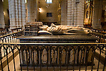 Tomb of Carlos III of Navarra and his wife Leonor, Cathedral, Pamplona, Navarra, Spain