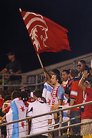 3 JULY 2010:  Chicago Fire fans during MLS soccer game between Chicago Fire vs Columbus Crew at Crew Stadium in Columbus, Ohio on July 3, 2010.