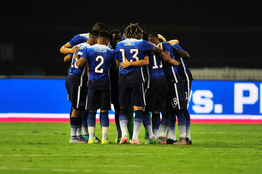 Team USA huddles as they get ready to take on Peru during a Friendly Match at the RFK Stadium in Washington, D.C. on Friday, September 4, 2015.  Alan P. Santos/DC Sports Box