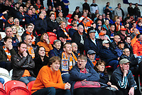 Blackpool fans during the first half<br /> <br /> Photographer Chris Vaughan/CameraSport<br /> <br /> The EFL Sky Bet League Two - Doncaster Rovers v Blackpool - Keepmoat Stadium - Doncaster<br /> <br /> World Copyright &copy; 2017 CameraSport. All rights reserved. 43 Linden Ave. Countesthorpe. Leicester. England. LE8 5PG - Tel: +44 (0) 116 277 4147 - admin@camerasport.com - www.camerasport.com