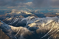 Aerial of the Brooks range mountains, Arctic National Wildlife Refuge, Alaska.