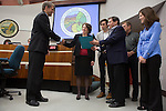 Jan Pepper is joined by her family during her swearing-in ceremony at the Los Altos city council Dec. 4.
