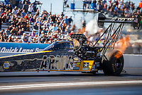 Feb 26, 2017; Chandler, AZ, USA; NHRA top fuel driver Tony Schumacher during the Arizona Nationals at Wild Horse Pass Motorsports Park. Mandatory Credit: Mark J. Rebilas-USA TODAY Sports