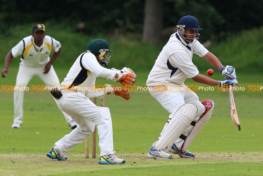 M Ismail in batting action for Hainault during Gidea Park and Romford CC vs Hainault & Clayhall CC, Shepherd Neame Essex League Cricket at Gidea Park Sports Ground on 18th June 2016