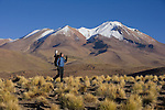 Art Wolfe on location in the Altiplano, Bolivia.