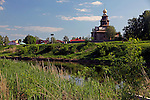 Europe, Russia, Suzdal. Kamenka River and Church of the Transfiguration